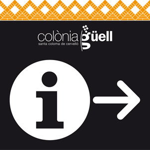 Signage plan for the Güell Colony