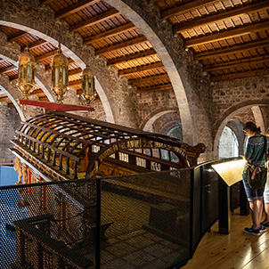 """Dockyards and galleys"" at the Barcelona Maritime Museum (MMB)"